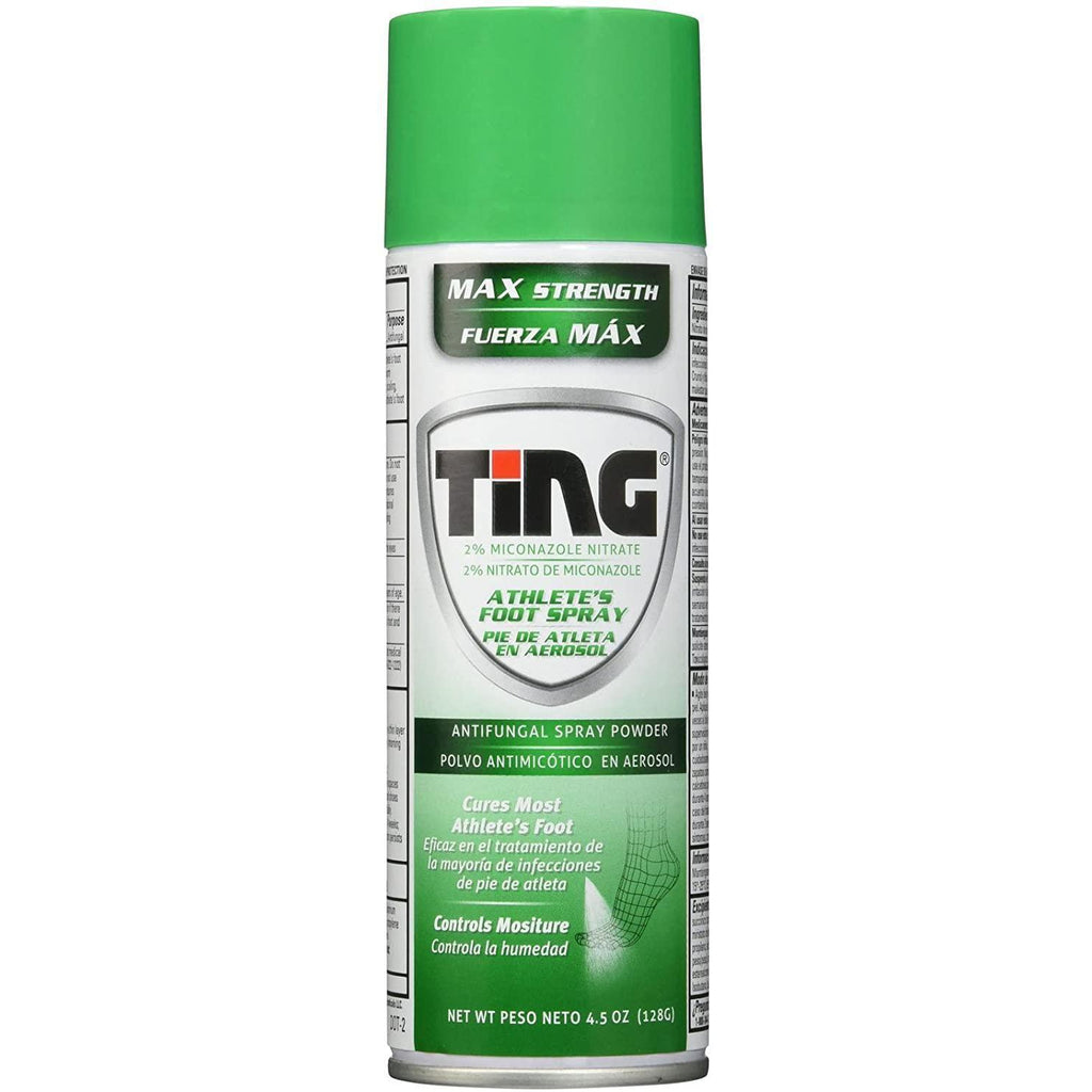 Ting Antifungal Spray Powder for Athlete's Foot, Jock Itch, Ringworm, Max Strength, 4.5 Ounce