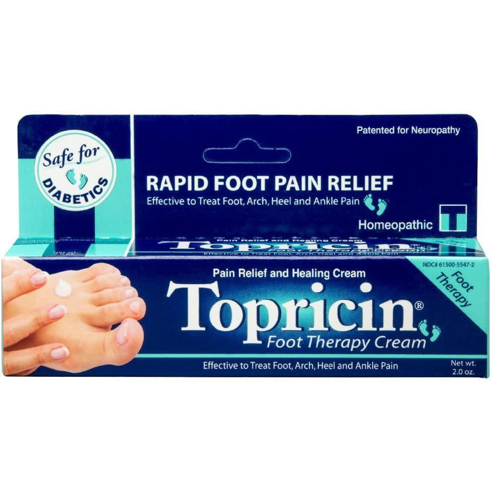Topricin Foot Pain Relief Cream, 2 Ounce