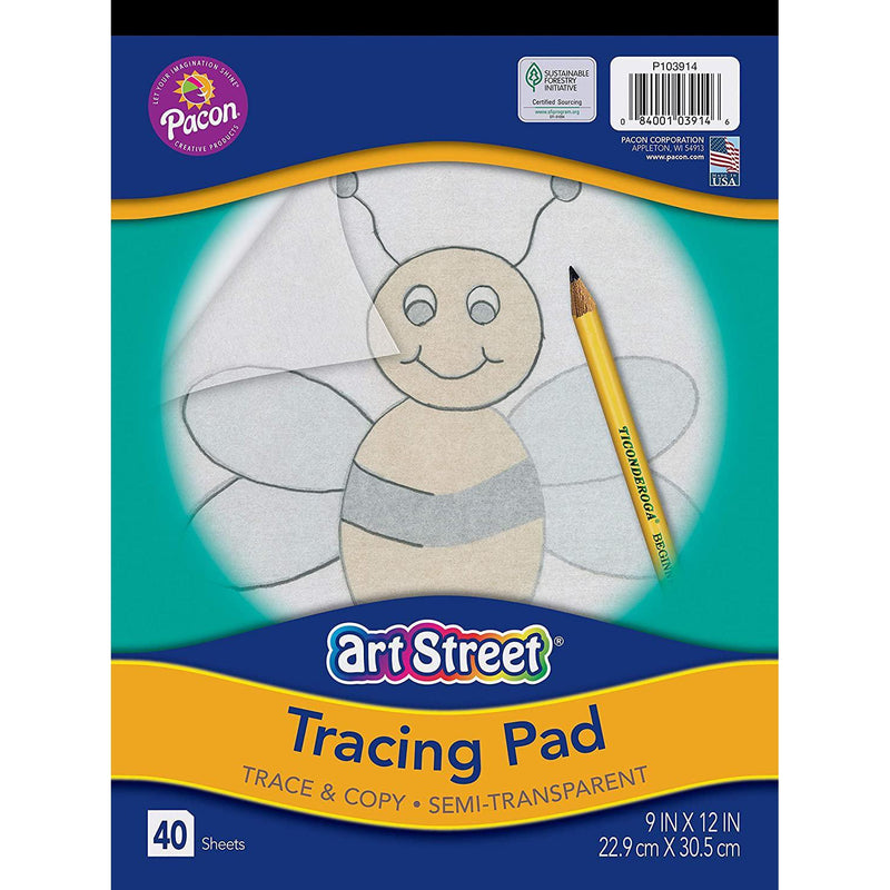 "Pacon Tracing Pad, 9"" x 12"", 1 Count"