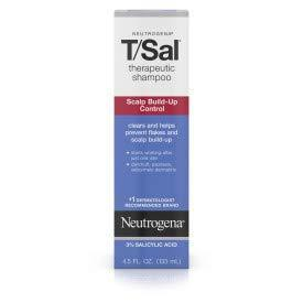 Neutrogena T/Sal Therapeutic Shampoo for Scalp Build-Up Control with Salicylic Acid, 4.5 Fl Oz.