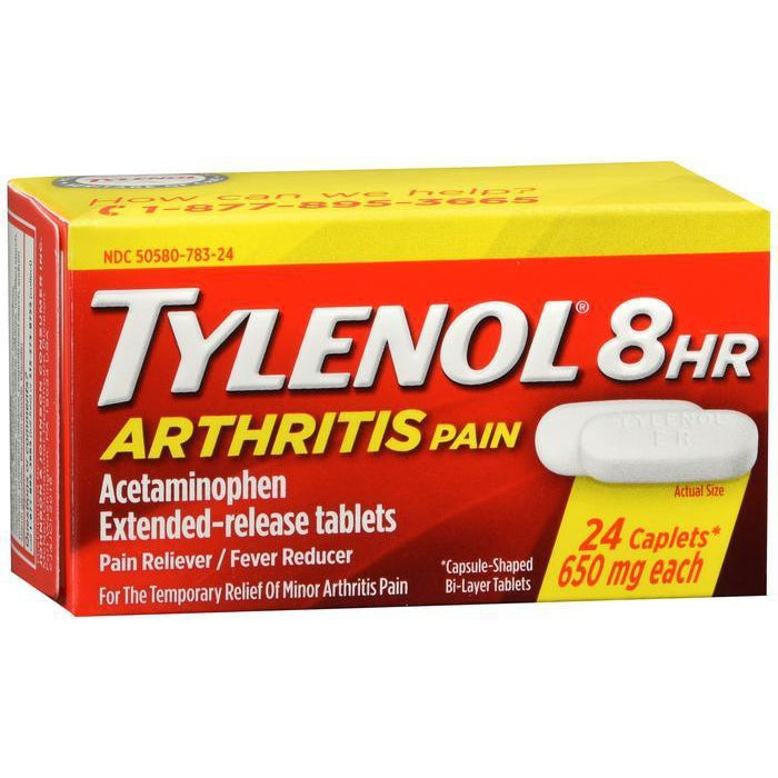 Tylenol 8 Hour Arthritis Pain Tablets with Acetaminophen for Joint Pain, 24 ct
