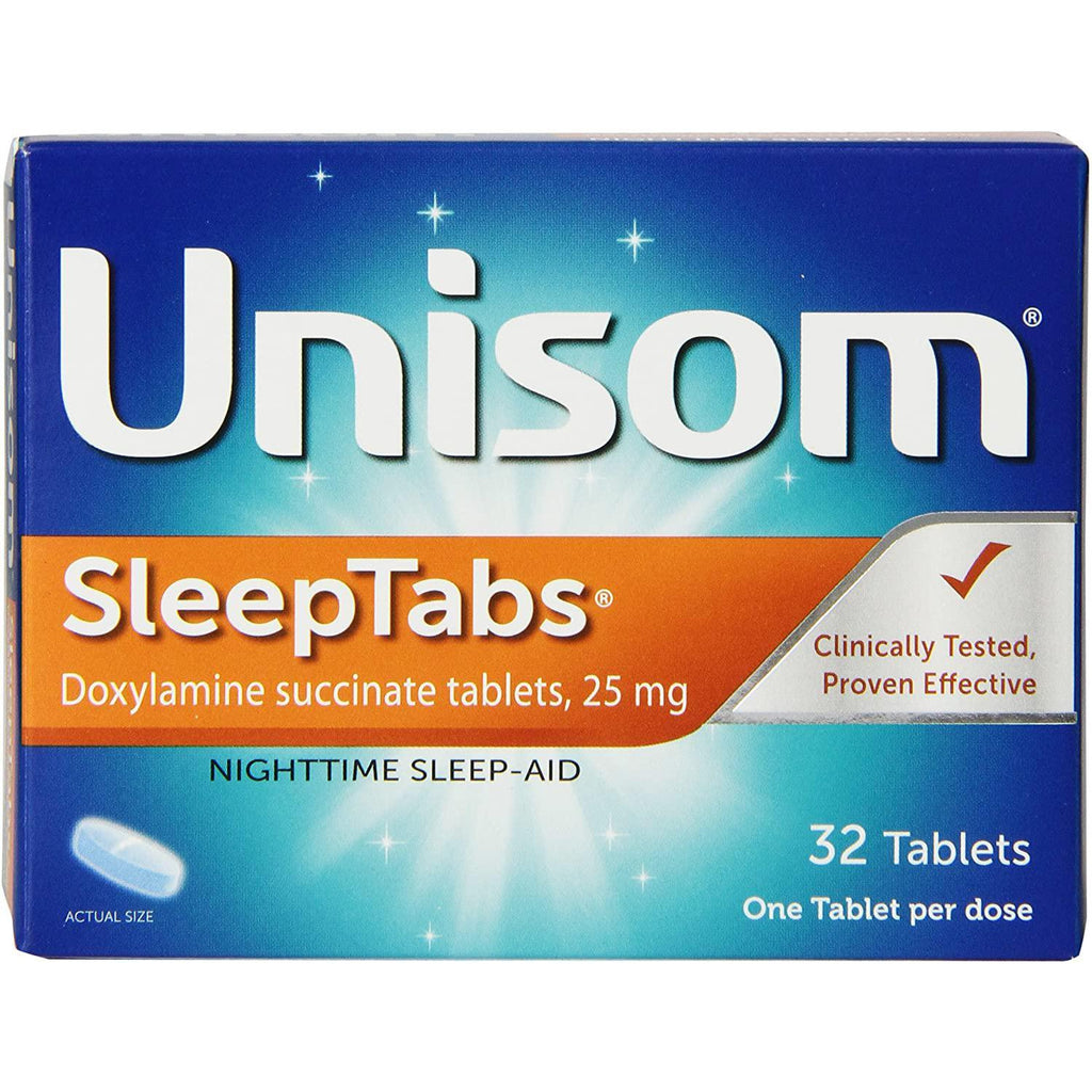 Unisom Sleep Tabs, Nighttime Sleep-Aid, 25 mg Doxylamine Succinate, 32 Tablets