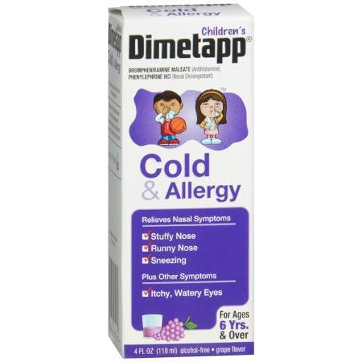 Children's Dimetapp Cold & Allergy, Grape Flavor, 4 fl oz