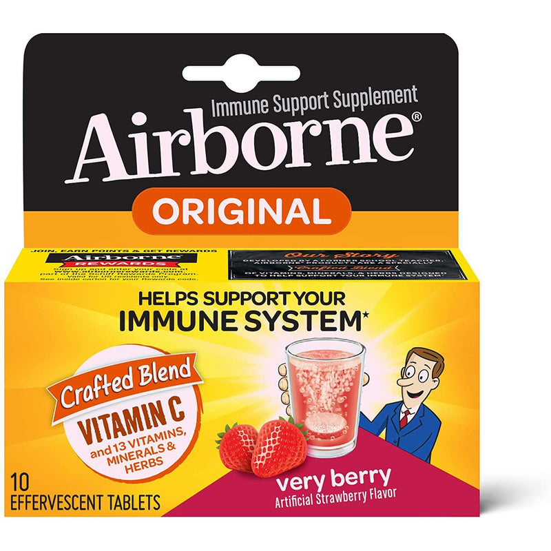 Airborne Very Berry Effervescent Tablets (10 count in a box)