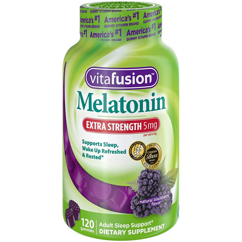 Vitafusion Extra Strength Melatonin Gummy Vitamins, 5mg, 120 ct Gummies
