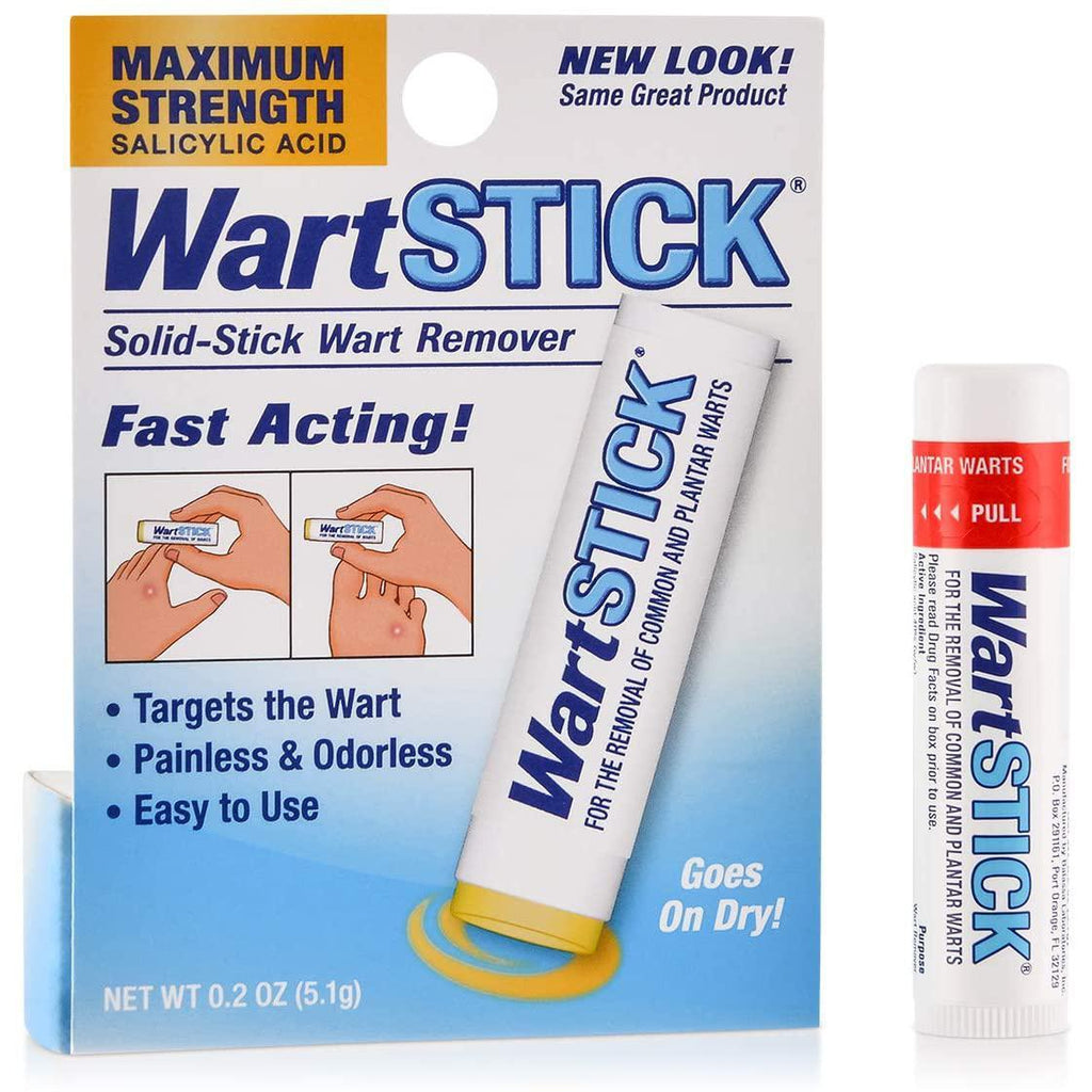 WartStick Maximum Strength Salicylic Acid Solid-Stick Common and Plantar Wart Remover, 0.2 Oz
