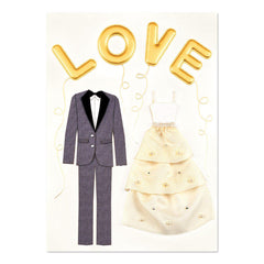 PAPYRUS wedding love balloons