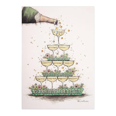PAPYRUS wedding champagne pyramid