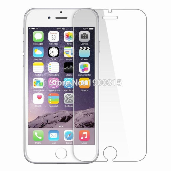 10pcs Film Tempered Glass Screen Protector Protection en Verre trempe ecran protecteur For iphone6 iphone 6 6S 7 8 Plus X 5S SE
