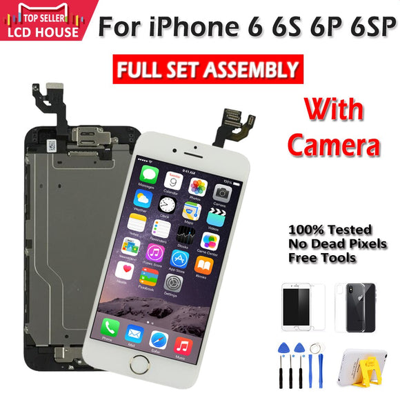 Full Assembly LCD For iPhone 6 6S Plus 6P 6SP LCD Display Replacement 3D Touch Digitizer Full Set Ecran+ Front Camera+Earpiece