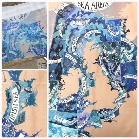Sea Areas - Tea Towel