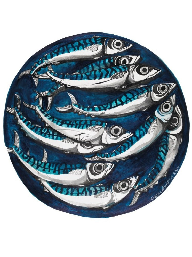 Mackerel Circle - Square Card