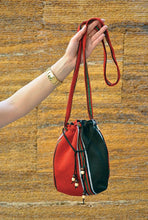 Load image into Gallery viewer, Pull-String Closure Bedouin Shoulder Bag