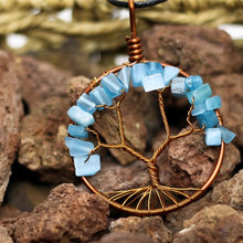 Load image into Gallery viewer, Tree of Life Copper and Stone necklace