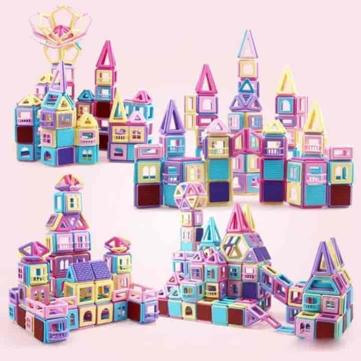 258Pcs Big Size Magnetic Design Building Blocks Toy - mybabyflame