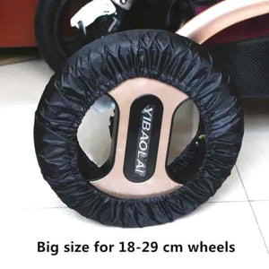 2 Pcs Stroller Accessories Wheels Covers for 12-29 CM Wheels - mybabyflame