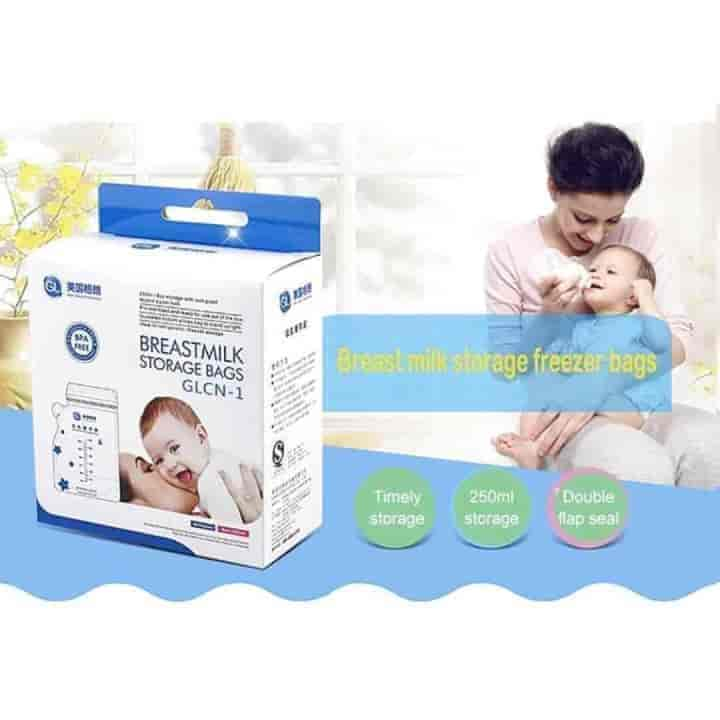 40Pcs 250ml Milk Safe Storage Feeding Bags - mybabyflame
