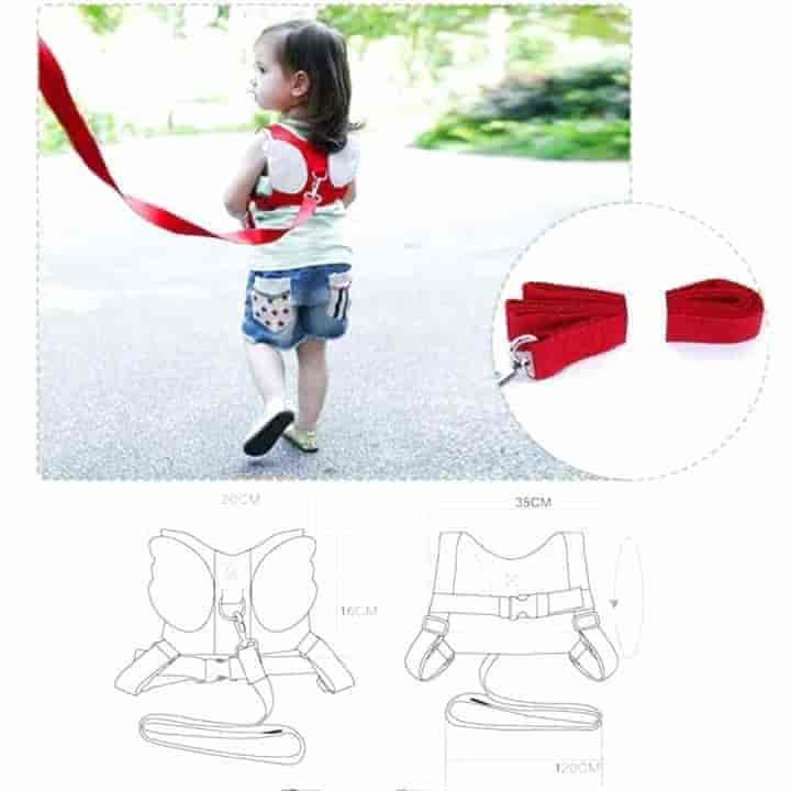 Angel Wings Kids Walker Backpack Anti-lost Belt - mybabyflame