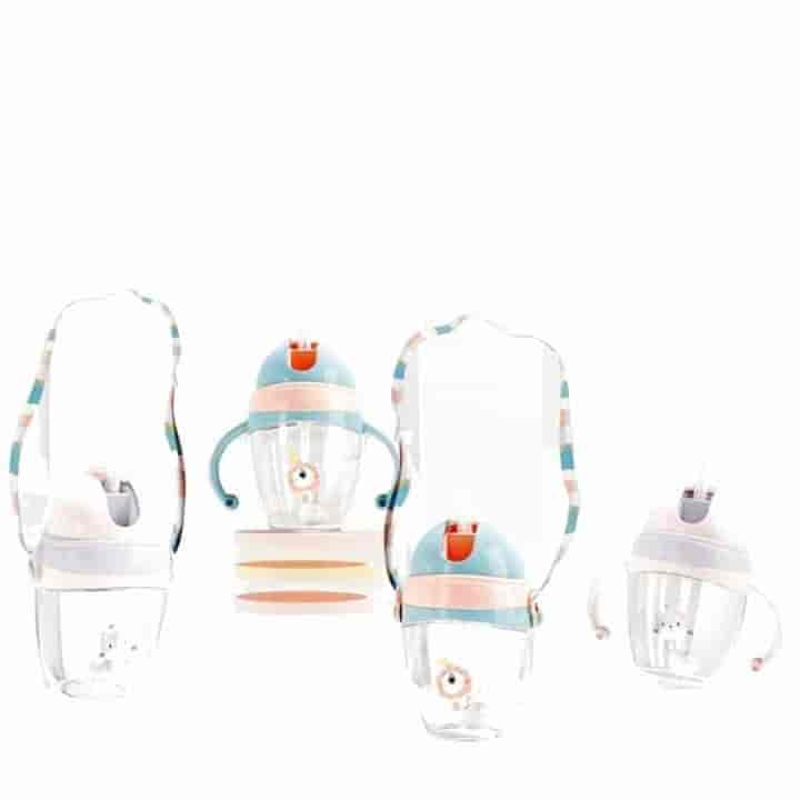 320ml Baby Feeding Bottle With Straw & Shoulder Strap - mybabyflame
