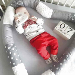 250cm Baby Bumper Safe Anti-collision Crib Pillow - mybabyflame