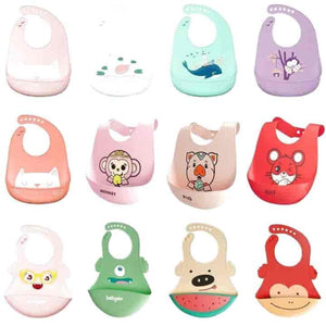 Baby Silicone Bibs, 3 Piece Waterproof Burp Set - mybabyflame
