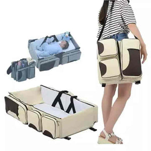 Baby Foldable Travel Bassinet Diaper Bag - mybabyflame