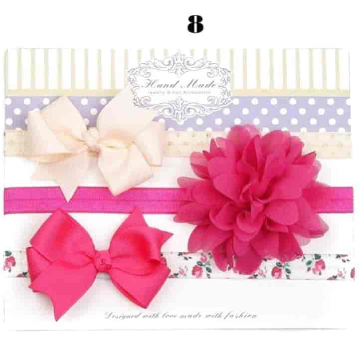 3 Sets Flower Baby Girl Headband - mybabyflame