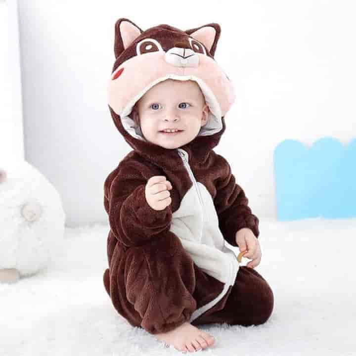 Baby Hooded Cartoon Costume Unisex Rompers - mybabyflame