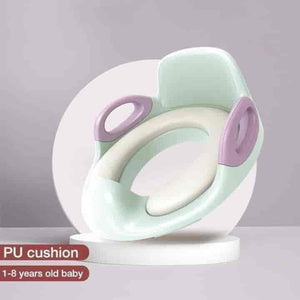 Baby Potty Training Toilet Seat Cover With Cushion Armrest - mybabyflame