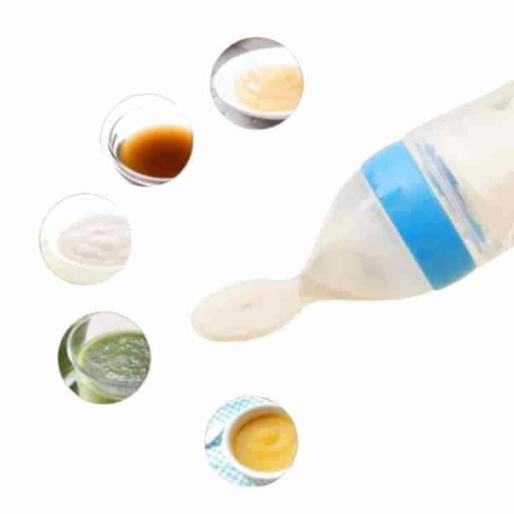 Baby Silicone Spoon Bottle Feeder 90ml 3 Piece Set - mybabyflame