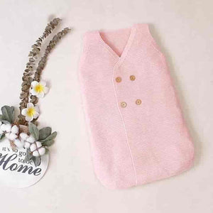 Baby Knitted Sleeveless Newborn Sleeping Bag - mybabyflame