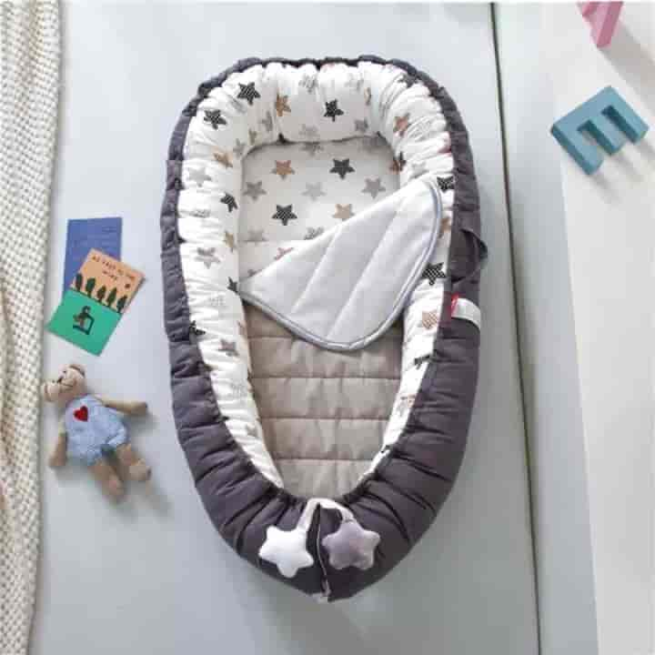 Baby Star Travel Anti-Wet Padded Cot Crib - mybabyflame