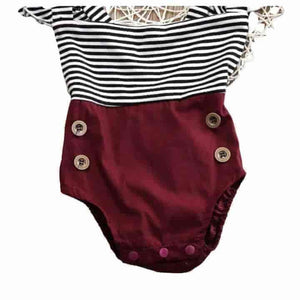 Baby Striped Romper Set - mybabyflame