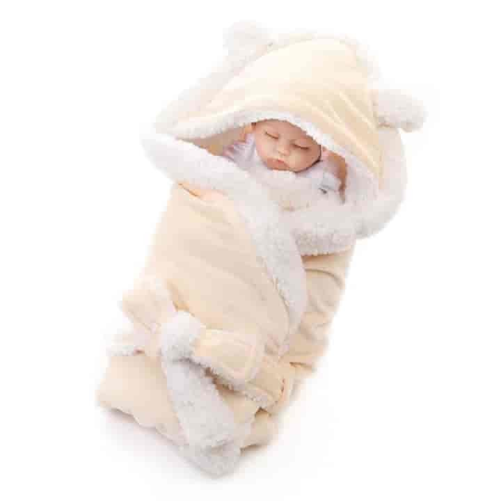 Blanket Wrap Double Layer Fleece Baby Swaddle Sleeping Bag For Newborns - mybabyflame