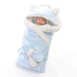 Double Layer Winter Wrap Swaddle For Newborns - mybabyflame