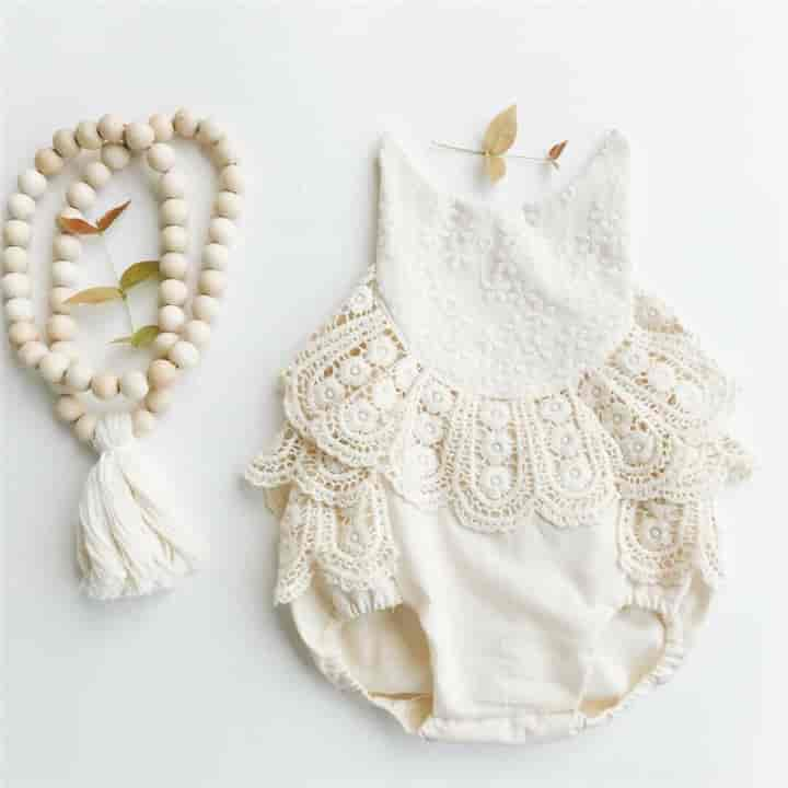 Sleeveless Ruffles Lace Baby Girl Jumpsuit - mybabyflame