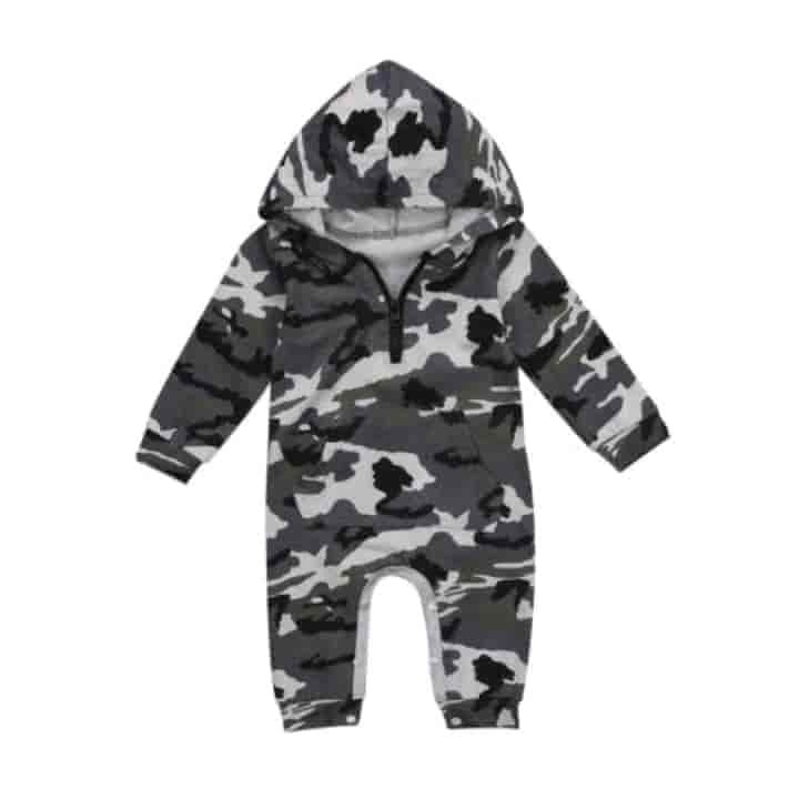Boys Hooded Jumpsuit Zipper Playsuit - mybabyflame