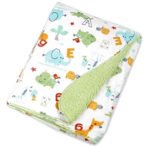 Cartoon Fleece Baby Blanket 2 Piece Set - mybabyflame
