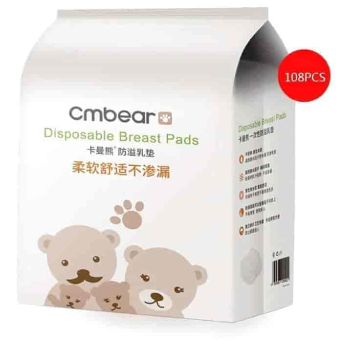 Cmbear Disposable Cotton Breast Pads-108pcs - mybabyflame