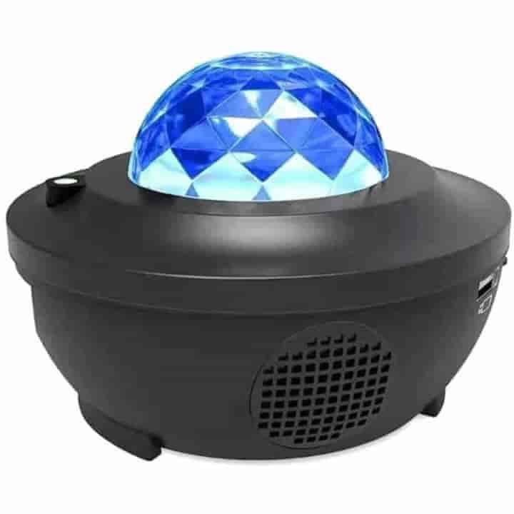 Colorful Starry Sky Projector USB Bluetooth Speaker Music Player LED Night Light - mybabyflame