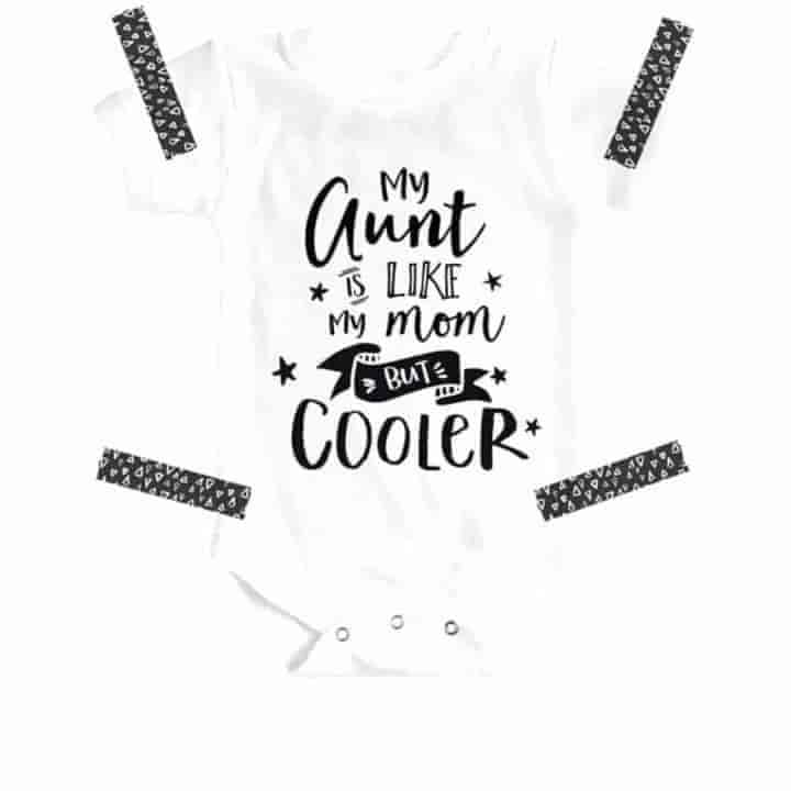 Cool Aunt Baby Romper - mybabyflame