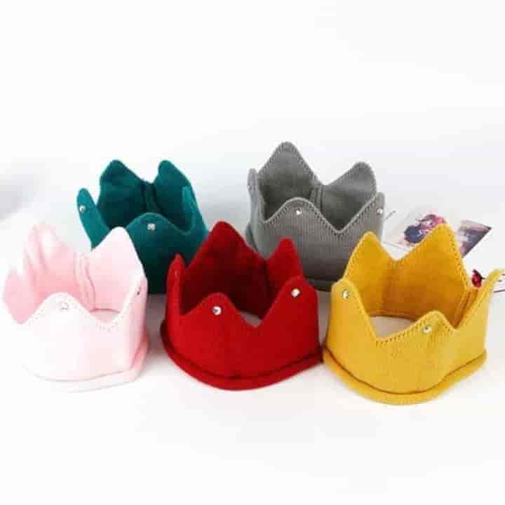 Crown Baby Photography Props Unisex Turban Hats 3Pc - mybabyflame