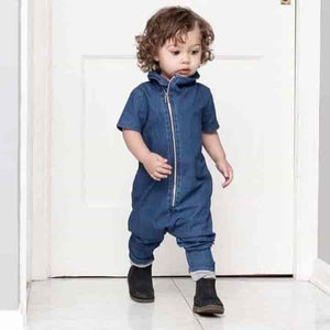 Denim Newborn Toddler Unisex Rompers Bodysuit Jumpsuit Outfits - mybabyflame