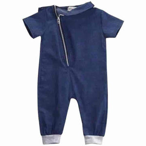 Newborn Denim Toddler Unisex Rompers Outfits - mybabyflame