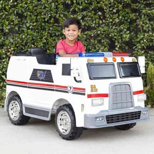 Electric 24V Fire Truck For Kids - mybabyflame