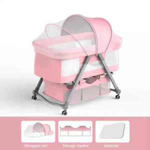 Foldable Co-Sleeping Baby Bedside Crib - mybabyflame