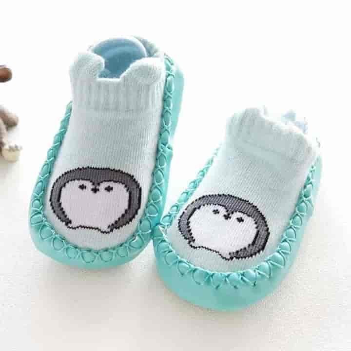 Indoor Leather Sole Non-Slip Baby Socks - mybabyflame