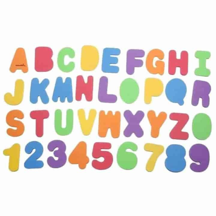 Kids Floating Bath Letters - mybabyflame