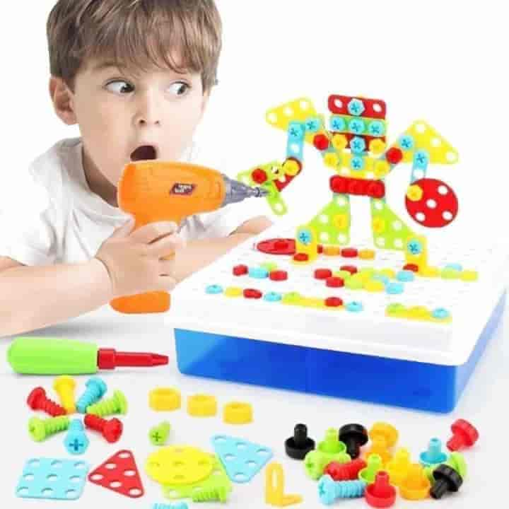 Kids Drill Building Blocks Educational Toys-224pcs - mybabyflame