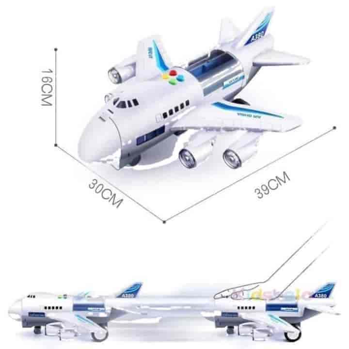 Kids Simulation Track Inertia Music Aircraft Toy - mybabyflame